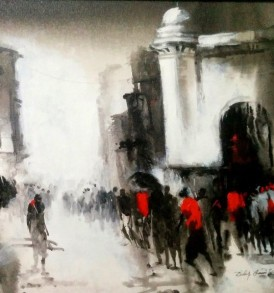 Dilip Chaudhury Painting