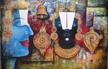 1489. Arjun Das, Balajee, 48 x 36inches
