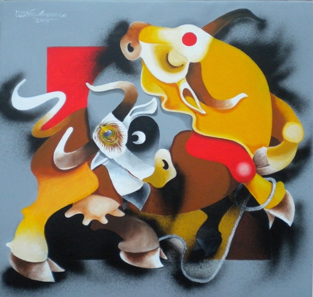 6.-Uttam-Manna-Play-of-Love-24-x-24-nches-Acrylic-on-Canvas