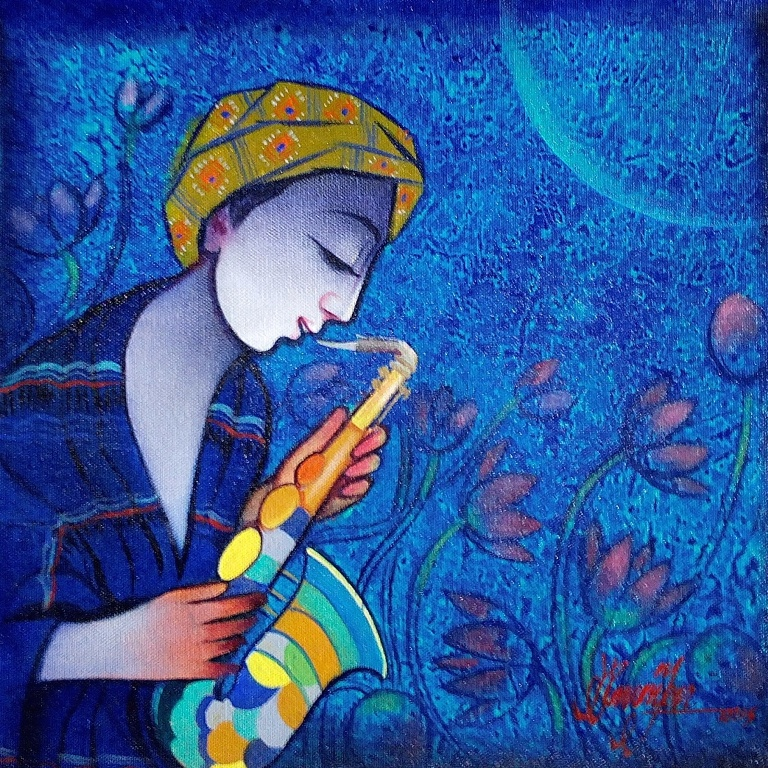 7.-Ramonkar-Musicians-12-x-12-inches-each-Acrylic-on-Canvas