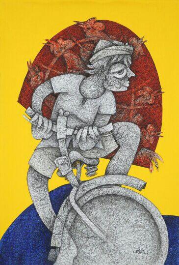 Mahavir Verma Painting