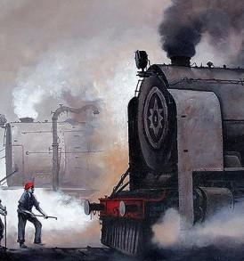 Kishore Pratim Biswas Painting