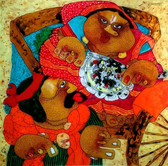 Shyamal Mukherjee Painting
