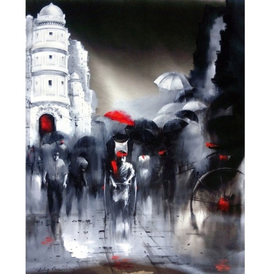 Dilip Chaudhury Painting