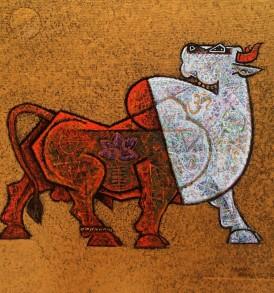 Dinkar Jadhav-Bull I-18x18