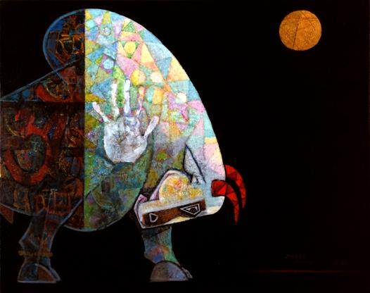 Dinkar Jadhav bull-indianartplace.com