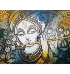 Rakesh Mandal Krishna-indianartplace.com