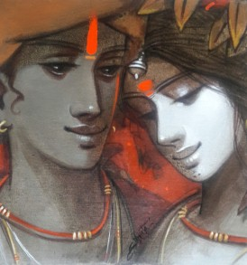 Subrata Das l Couple I l 12 x 12 inches