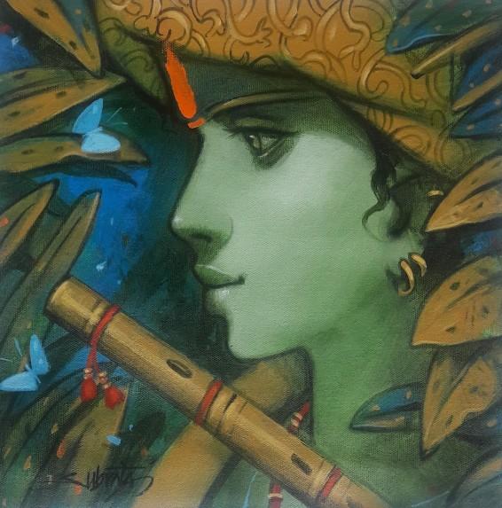 Subrata Das l Krishna I l 12 x 12 inches