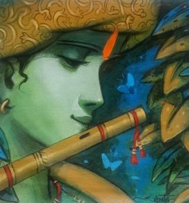 Subrata Das l Krishna II l 12 x 12 inches