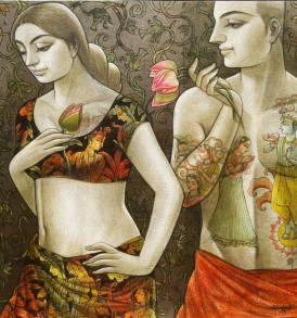 Sukanta Das l Couple l 36x36 inches